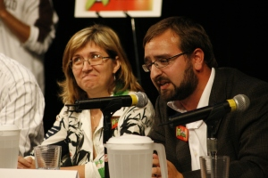 Sylvie Lemieux (Green Party) and Raphael Dery (Bloc Quebecois) - courtesy of Ming Wu Photos