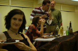"Theatre groups rehearse in church basements, preparing to delight you with their theatrical innovations. The cast of Gladstone Productions' ""Rabbit Hole"" even shared their chocolate cake with me!"