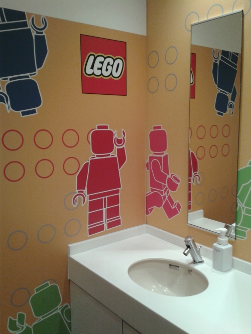 There's also a LEGO bathroom.