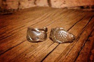 Pineapple Wedding Rings by Aaron Paul Designs